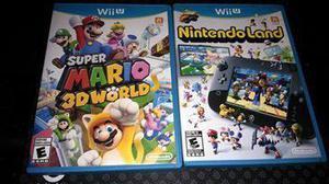 Lote Super Mario 3d World Y Nintendo Lands Wiiu