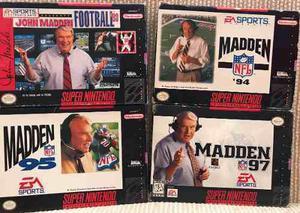 Madden 93, 94, 95 Y 97 (completos) - Super Nintendo