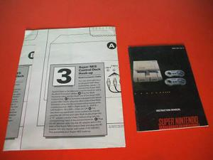 Manual Instrucciones Snes Super Nintendo Original Rgs