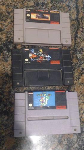 Mario World Top Gear Killer Instinct Juegos Super Nintendo