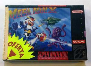 Mega Man X Super Nintendo Snes Nuevo Sellado Retromex Tcvg