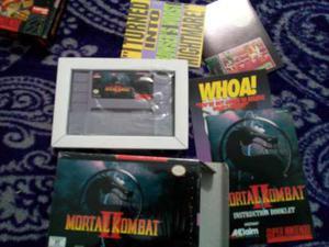 Mortal Kombat 2 Snes Caja Instructivo Super Nintendo