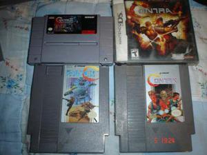 Nintendo Contra Super C Y Contra 3 Aliens Wars Nes Snes