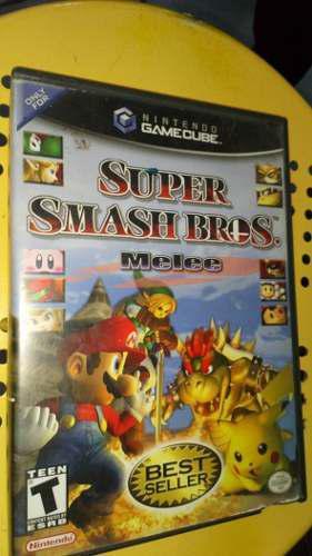 Nintendo Game Cube Super Smash Bros Melee Completo Con