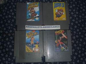 Nintendo Super Mario Bros 2, 3, Rygar Y Fast Break Nes