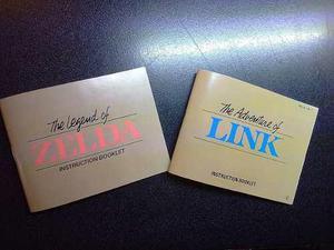 Pack Cajas Y Manuales Custom Zelda 1 Y 2 Nes