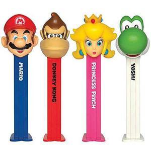 Pez Nintendo Super Mario Lote - 4 Dispensadores Pez Con 6 Ro