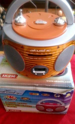 Radio Reloj Despertador AM/FM Luces Disco AKUSTIC Nuevo