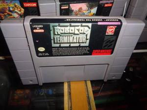 Robocop Vs Terminator Super Nintendo Snes Cartucho