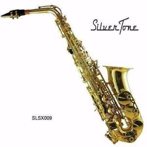 Saxofón Alto Eb Niquelado Silvertone Sas-200i
