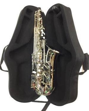 Saxofón Alto Niquelado Mercury Con Estuche Y Envío Gratis