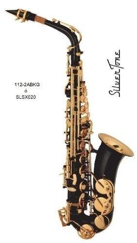 Saxofon Alto Silvertone Con Estuche Slsx020 Confirma Existe!
