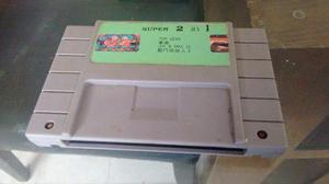 Super 2 In 1,top Gear Y Joe Mac Ii Para Super Nintendo Snes