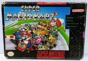 Super Mario Kart Super Nintendo Snes Completo Retromex Tcvg