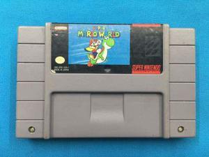 Super Mario World Snes Super Nintendo En Buen Estado