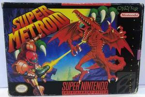 Super Metroid Super Nintendo Snes Completo Retromex Tcvg