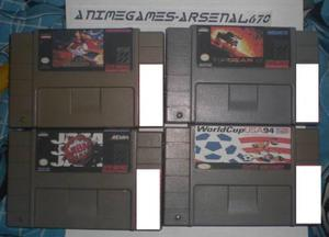 Super Nintendo Paquete Top Gear Aladin Nba World Cup 94 Snes