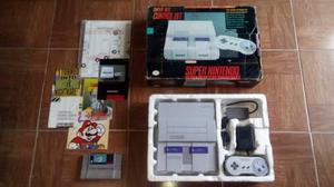 Super Nintendo Snes Completo En Caja