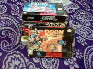 Super Nintendo Snes Doom Troopers Caja E Instructivo Ñxv