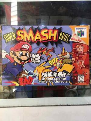 Super Smash Bros N64 Con Caja Nintendo