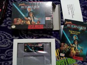 Super Star Wars Return Jedi Snes Caja Instructivo Nintendo