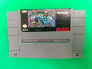 Teenage Mutant Ninja Turtles Iv Turtles In Time Snes Juegazo