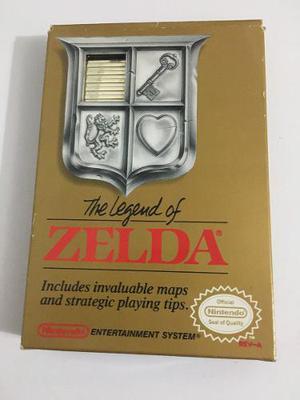 The Legend Of Zelda Nes Gold 1987 Completo