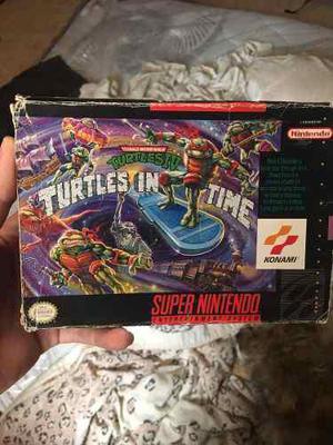 Turtles In Time Snes Tortugas Ninja Super Nintendo