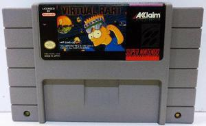 Virtual Bart Super Nintendo Snes Cartucho Retromex Tcvg