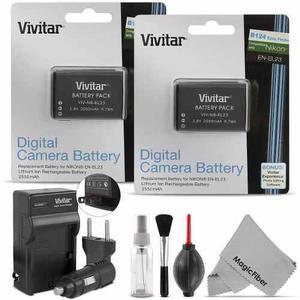 2 Bateria Pila En El23 + Cargador Nikon Coolpix Enel23 P600