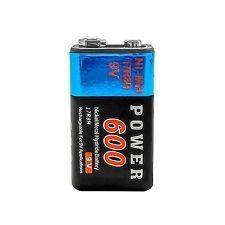 2 Pila Batería Recargable De 9v 600 Mah 17r8h Y Cargador