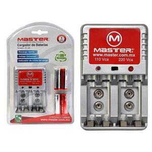 3cargadores De Baterias Con 4 Pilas Aa Recargables 3000mah