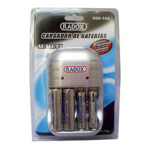 Cargador De Baterías Aa Aaa Y 9v+4 Baterias 2 Aa 2 Aaa