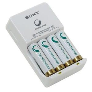 Cargador De Baterías Sony Ni-mh Con 4 Pilas Aa Recargable