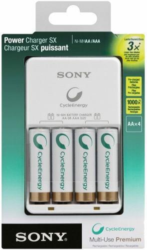 Cargador De Baterias Sony Ni-mh Con 4 Pilas Aa Recargables