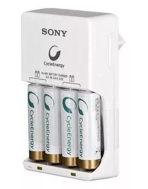 Cargador De Baterias Sony Ni-mh Con 4 Pilas Recargables