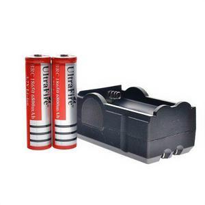 Cargador Doble + 2 Baterias Pilas Mod 18650 De 6800 Mah