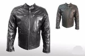 Chamarra Black Bike100% Piel Cabra Motocilcismo