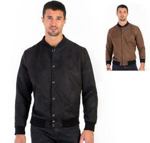 Chamarra Casual De Hombre En Color Negro Y Chocolate