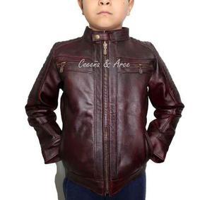 Chamarra De Piel Gruesa Para Niño Moderna K6 Ceceña & Arce