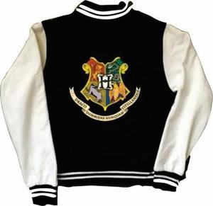 Chamarra Hogwarts Harry Potter Universitaria Con Logo Frente