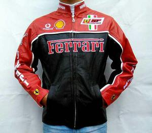 Chamarra Tipo Ferrari Piel De Excelente Calidad!