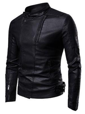 47509a08e60ed Chamarras hombre cremalleras adornado chaqueta