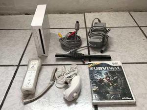 Consola Nintendo Wii Completa Cables Controles Juego