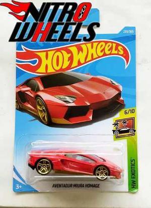 Hot Wheels Exotics Lamborghini Aventador Miura Homage