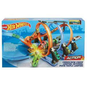 Hot Wheels Pista Espiral De Choques Y Acrobacias Mattel Envi