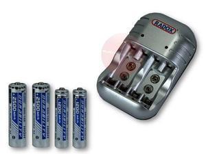 Kit Cargador Universal Baterias + 4 Pilas Aa Y Aaa 2500mha