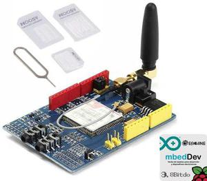 Modulo Gsm Gprs Sim900 Shield 4g Adaptadores Sim Arduino