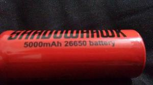 Paquete 3 Pilas Bateria 26650 Recargable Lampara Shadowhawk