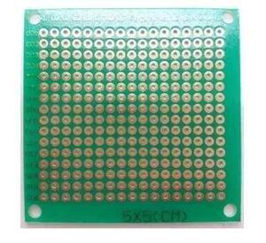Placa Fenolica Perforada Verde 5×5 Cm